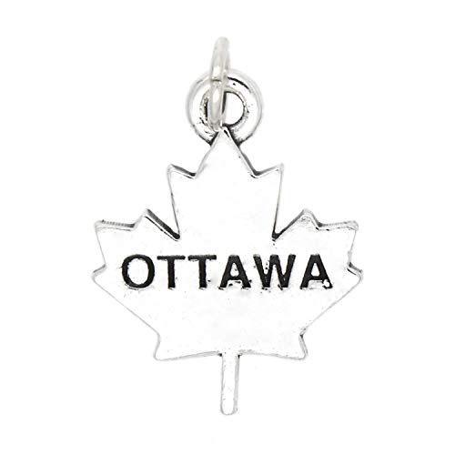 Sterling Silver Ottawa Canada Charm Jewelry Making Supply Pendant Bracelet DIY Crafting by Wholesale Charms -