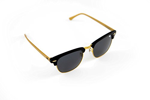 William Painter- The Empire Polarized Clubmaster Sunglasses (Gold & Black) by William Painter