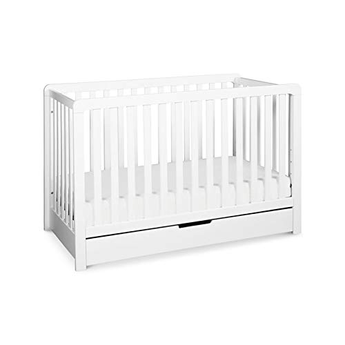 - Carter's by Davinci Colby 4-in-1 Convertible Crib with Trundle Drawer, White