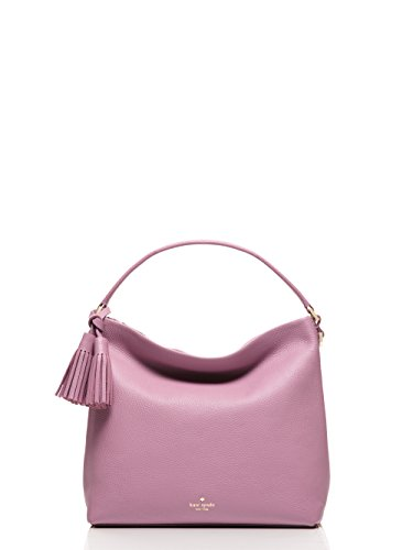 kate spade new york orchard street small natalya pebbled leather hobo bag, rum raisin