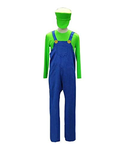 HalloweenPartyOnline Adult Men's Green Plumber Costume HC-035