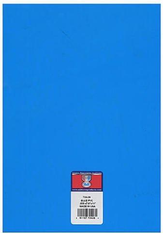 Pvc Sheet Blue .005 X 7.6 X 11 Inches
