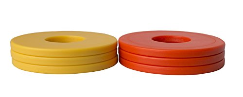 Washer Yard Toss Replacement Pitching Set (Orange/Gold, Set of 6)