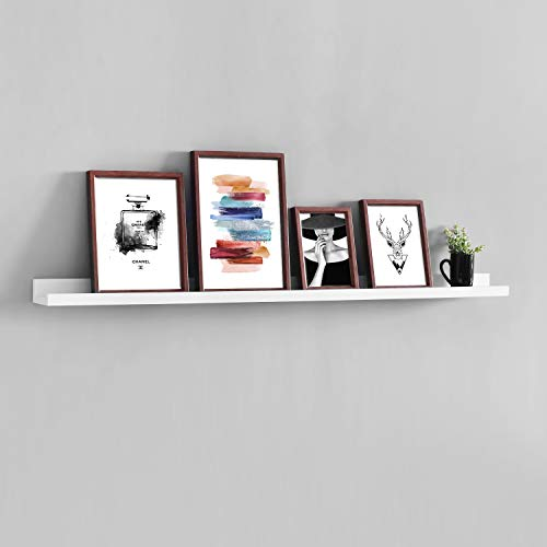 WELLAND Photo Ledge Floating Picture Ledge, Display Wall Shelf, 48-inch, White