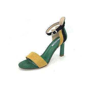 Sommer Grün Rosa Normal Komfort 9 Schwarz 7 5 Nubukleder Damen ggx green cm Komfort High Heels LvYuan 5 gSqPvYw0g