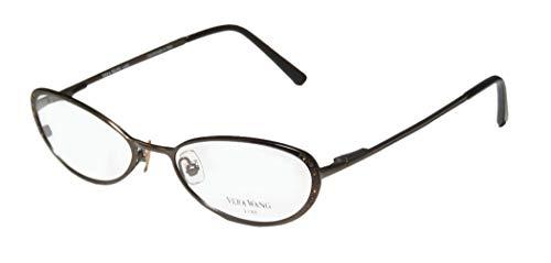 (Vera Wang Epiphany I Womens/Ladies Designer Full-rim Titanium Crystals Flexible Hinges Hot Handmade In Italy Eyeglasses/Eye Glasses (49-17-130,)