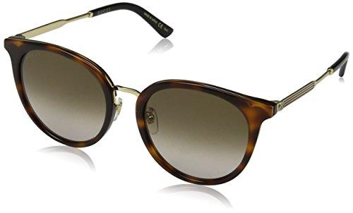 Gucci GG 0204SK 003 Havana Plastic Fashion Sunglasses Brown Gradient Lens
