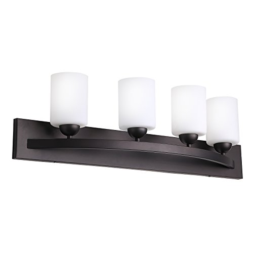 31XxLyRUDJL - CloudyBay CB17002-ORB Bath Vanity Light Fixture,4-Bulb Wall Sconce Bathroom Lighting With Opal Glass Shade,UL Listed,Oil Rubbed Bronze Finish