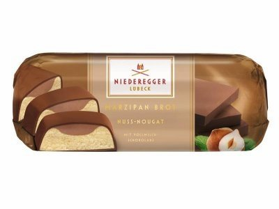 Chocolate Covered Nougat Marzipan - Niederegger Lubeck Marzipan Nut Nougat Loaf 75g (5-pack)