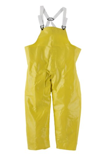 Neese 56BT Ribbed PVC/Polyester Dura Quilt 56 Bib Style Rain Trouser with Elastic Suspenders, 3X-Large, Yellow