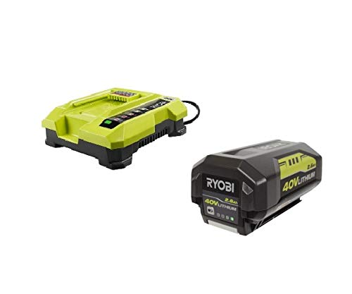 (Ryobi OP401 40V Li-Ion Battery Charger & (1) OP40261 40V 2.4Ah Battery (Renewed))