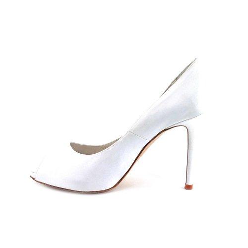 Charles David Womens Jocelyn Pump Shoe White Satin 7apWJU