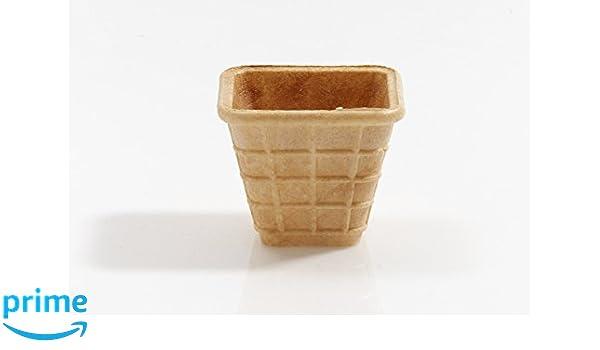 Cono de Helado | 40ml | 56xØ48x48mm | 33 pieza | Comestible Moldes para Muffin y Cupcake | Cuenchos para mermelada, salsas y frutas | Barquillos para helado ...