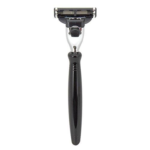 Black Mach 3 Shaving Razor Handle by Boss Ra by Boss Razors