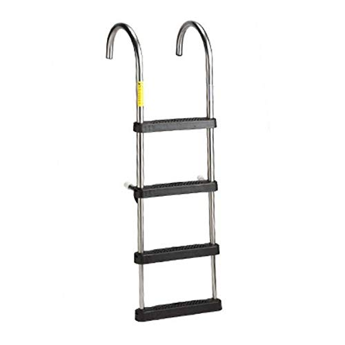 AMRG-12340-21 * Garelick EEz-In Telescoping Stainless Steel Pontoon Ladder w/Deck Mounting Cups