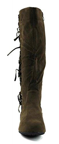 High Metro Western Women Knee Kali Boots Fringe Footwear Brown E7SxwOYP