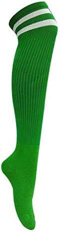 スポーツソックス 靴下 大人の子供のサッカーソックスニーソックス上の長いチューブソックス卸売薄いセクション耐摩耗性高弾性スポーツソックス (Color : Green, Size : Kid code)