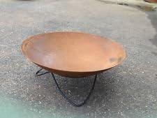 Brasero–Maceta (50cm Con Soporte oxidado metal hierro Jardín Decoración