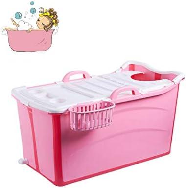 折りたたみバスタブ GYF 折りたたみバスタブ大人 バスタブ ベビープール バスタブエアーバス ポータブル折りたたみバスタブカバー 子供用浴槽 プラスチック製の (Color : Pink)