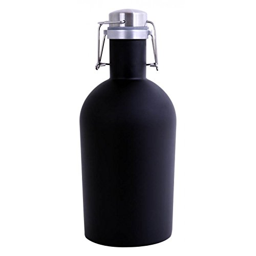 The ALCRAFT Beer Growler (Black) an attached swing top offers long-lasting freshness and ensures you're giving your beer the tender loving care it deserves. Enjoy 64 oz capicity of cold beer