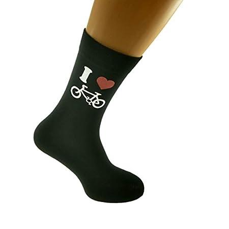 I Love Cycling Picture Design Black Socks Large Mens UK Size 6-12 EUR 39-46 31XxV4V2HwL