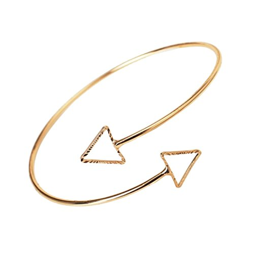 Fheaven Women Fashion Egypt Bar Curve Geo Open Upper Arm Cuff Armlet Armband Bangle Bracelet Gift (GoldS)
