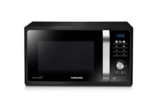 Samsung MG23F301TAK/EC Microondas con Grill, 23 Litros de Capacidad, Potencia 800W/1100 W, Interior Cerámico Enamel…