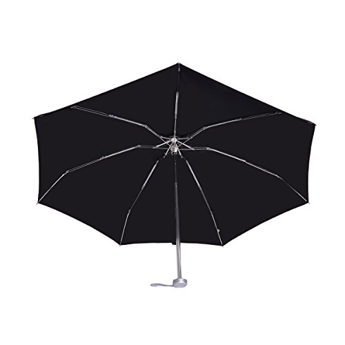 Viyaa Bang Compact Travel Umbrella ,200g Lightweight Portable Windproof Rain Umbrellas ,Foldable to 6.7 Inches (Black)