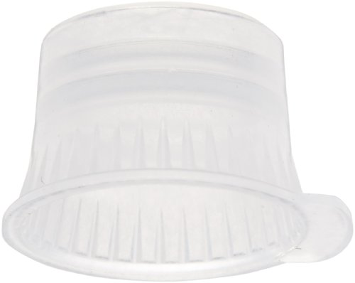 PlatinumCode 88029W 10mm Cap for 10mm Vacuum and Glass Tubes, White (Bag of 1000)