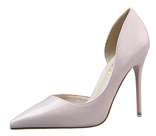 T&Mates Womens Dressy Versatile D'Orsay Stiletto High Heels Closed Pointed Toe Pumps Shoes (8 B(M) US,LightGray)