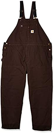 Carhartt Mens Loose Fit Washed Duck Insulated Bib Overall Work Utility Outerwear
