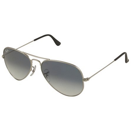 RAY-BAN RB 3025 AVIATOR SUNGLASSES (55 mm, 003/3F SILVER CRYSTAL WHITE/GRADIENT (Crystal Blue Sunglasses)