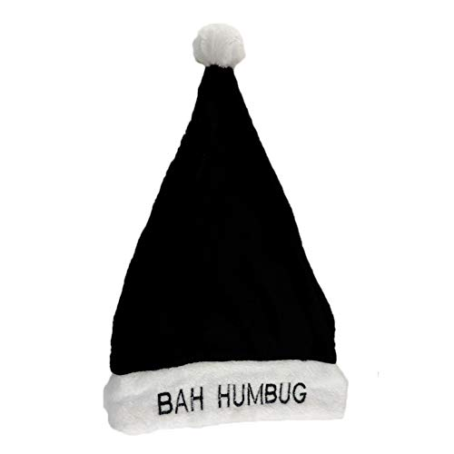 Bah Humbug! Santa Clause Christmas Hat Black -