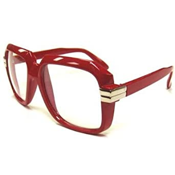 d129a617af Amazon.com  Run DMC CAZAL Sunglasses 1980 s - Many Colors (Red Clear ...