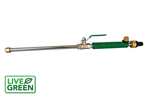 Garden Hose Pressure Washer - Live Green ALL NEW High Pressure Power Nozzle by Perfect for Washing Cars, Patio's, Sidewalks, Siding and Garage | Pressure Spray Nozzle | Turbo Jet Spray | Full Customer Warranty