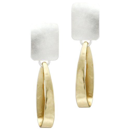 Marjorie Baer Rectangle with Long Loop Clip on Ear…