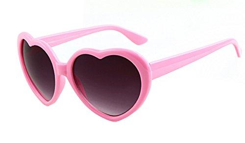 Rose Lunettes Style de Polarisé soleil Lolita Uv400 Femmes Coeur vUwzxqrpHv