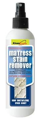 KleanLogik Mattress Cleaner 8 oz. Mattress Stain remover for urine, blood, vomit, coffee and more! With odor absorbing fresh scent.