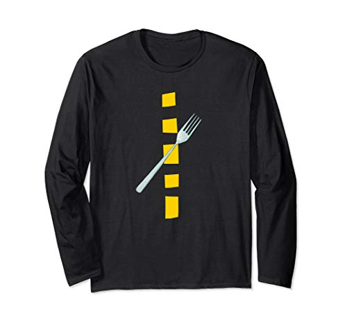 Funny Pun Halloween Costumes 2019 (A Fork In The Road Funny Halloween 2019 Costume Pun Lazy Long Sleeve)