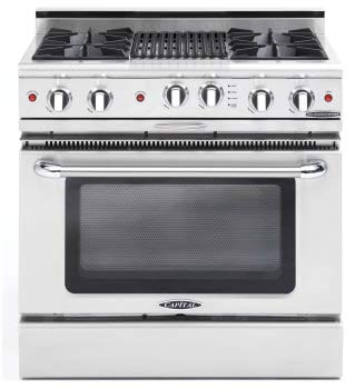 (Capital Culinarian Series CGSR362B2N 36 Inch Pro-Style Gas Range - Natural Gas )