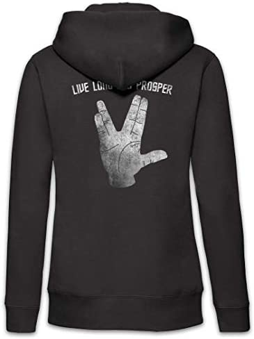 Urban Backwoods Live Long and Prosper II Femme Zip Hoodie Sweat à Capuche