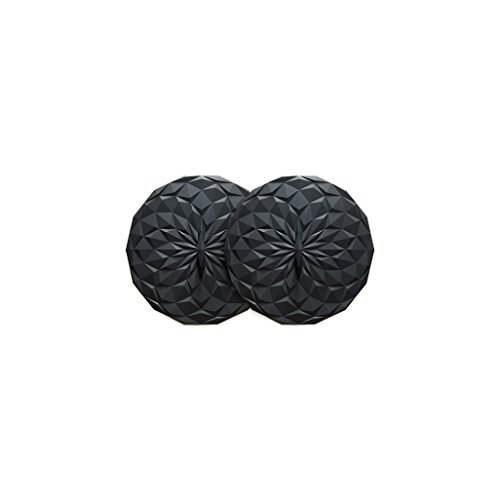 GIR: Get It Right Premium Silicone Round Lid, 4 Inches, Black, 2 Pack