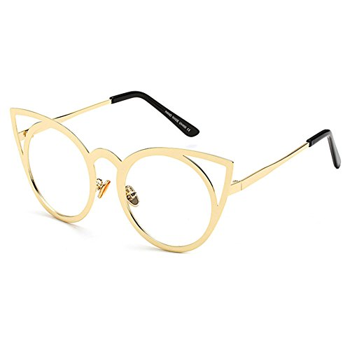 9 Metal Color Sunglasses Vintage Eye MEIHAOWEI Femme Frames Mirror Cat Shades qwvUx1nTH