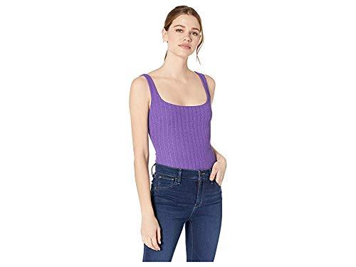 ASTR the label Women's Tate Sleeveless Solid Stretch Knit Basic Bodysuit, Grape, m
