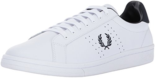 Fred Perry B7211 Leather, Scarpe Stringate Oxford Uomo Bianco (White 100)