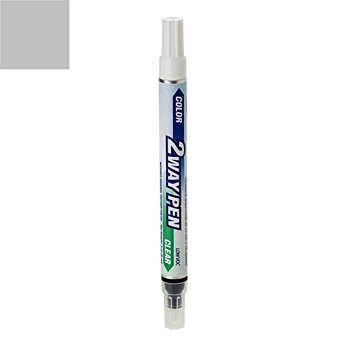 ExpressPaint 2WayPen - Automotive Touch-up Paint for Honda Accord - Satin Silver Metallic Clearcoat NH-623M - Color + Clearcoat Only