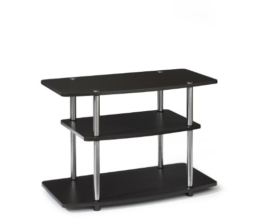 Convenience Concepts Designs2Go 3-Tier TV Stand for Flat Panel Television Up to 32-Inch or 80-Pound, Dark Espresso - Small Media