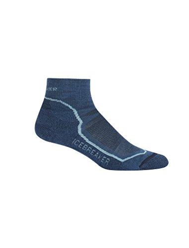 (Icebreaker Merino Women's Hike+ Light Mini Socks, Prussian Blue/Waterfall/Midnight Navy, Medium)