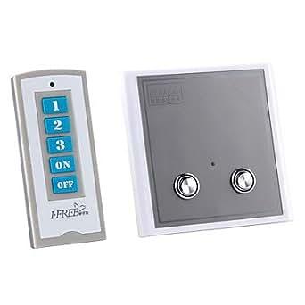2 banda digital de control remoto inal mbrico interruptor - Interruptor inalambrico luz ...