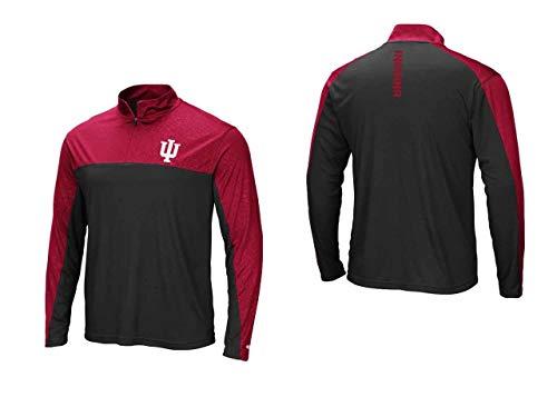 Indiana Hoosiers Adult Luge 1/4 Zip Windshirt - Team Color, Medium